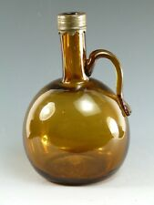 Antique Glass - Amber & Silver Plate Claret / Wine Jug