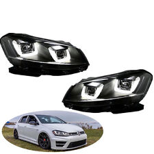 NEW FIT For VW 2008-14 Volkswagen Golf MK6 GTI Assembly Headlights lamps Led DRL