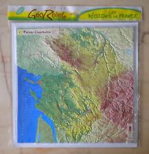 Carte en Relief, Poitou-Charentes, Géorelief Régions de France