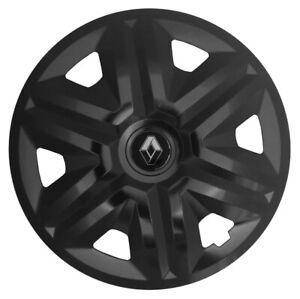"16"" Renault Trafic Laguna WHEEL TRIMS COVERS  HUB CAPS  SET OF 4 x16''  black"