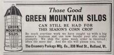 1919 AD.(XC19)~THE CREAMERY PACKAGE MFG. CO. RUTLAND, VT. GREEN MTN. SILOS