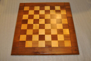 "Vintage 1960s Wood Chess Board 18"" 1 3/4"" Square Maybe Drueke? or Similar Style"