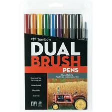 Tombow Dual Brush Markers 10pkg - Muted