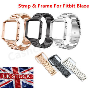 Stainless Steel Bracelet Smart Watch Genuine Strap Band For Fitbit Blaze UKStock