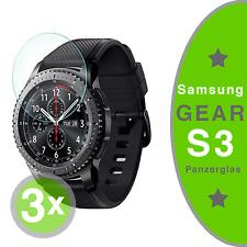 3x Samsung Gear S3 Schutzglas 9H Schutzfolie Panzerfolie Schutzglas NEU & OVP!