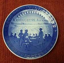 "Royal Copenhagen 1976 U.S. Bicentennial Collector Plate ""In Congress"""