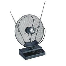 ANTENNE PARABOLIQUE TNT TV TELE TELEVISION INTERIEUR AMPLIFIEE 32dB VHF UHF FM
