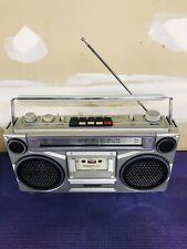 Vintage Sanyo AM/FM Cassette Player Hip Hop Boombox M9902-2 Tested