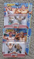 WWE RUMBLERS CM PUNK JOHN CENA CHRISTIAN SHEAMUS NEW MATTEL WWF MINI FIGURES LOT