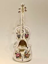 Vintage Andrea By Sadek Porcelain Floral Painted Violin with Nylon Strings, 15�