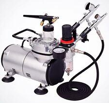 Master Pro Airbrush Multi-purpose system Dual-action 3 Airbrush Kit w/ 6ft Hose