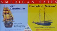 Glencoe Models American Sails USS Constitution & Fishing Schooner Item #3303