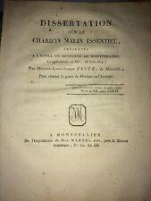 DISSERTATION SUR LE CHARBON MALIN ESSENTIEL 1804