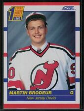 1990-91 Score Hockey #439 Martin Brodeur Rookie Card First Round Draft Choice