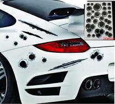 Bullet Hole Orifice Sticker Graphic Decal Shothole Car Auto Helmet Windows