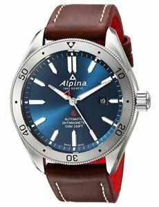 Men's Alpina Alpiner 4 Automatic Strap Watch Blue Dial Model: AL-525NS5AQ6