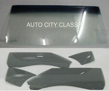 1970-1972 Chevelle Convertible Glass Set Windshield GBN Door Quarters Grey