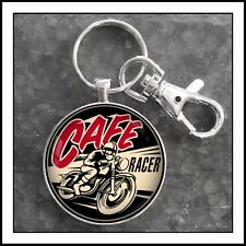 Cafe Racer Motorcycle Photo Keychain Valentines gift charm zipper pull
