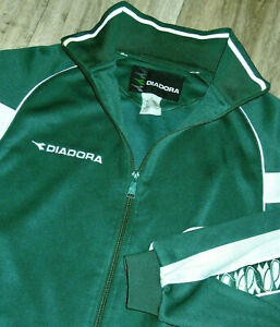 Diadora Jacket Vintage 90s Zip Up Athletic Soccer Football Futbol Track Mens SM