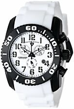 Swiss Legend Commander Titanium Men's 47mm Chronograph Rubber Watch 11876-tib-02