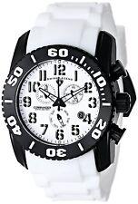 Reloj De Cuarzo Swiss Legend Hombre Titanio Negro con Estuche Y Correa Blanca 11876-TIB-02