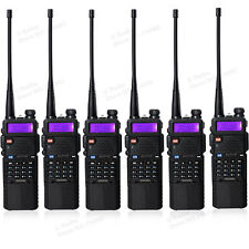 USA Stock 6pcs BaoFeng UV-5R Two Way FM Radio +3800mah Battery Ham Walkie Talkie