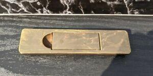 (1) Henredon Campaign Scene One Recessed Brass Door Pull B