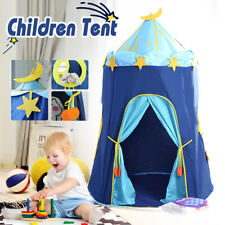 Large Kids Teepee Tent Children Home Canvas Pretend Play Tipi Out/Indoor Blue