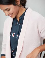Joules Womens Valerie Ribbed Cardigan - Pink - 16