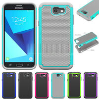 Shockproof Case Hard Rubber Cover For Samsung Galaxy J7 V / J7 Sky Pro / J7 Perx