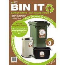 Bin It Garden Waste Recycling Stickers, Pack 3
