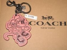 Disney x COACH Minnie Mouse Rollerskate Bag Charm Key Ring F27709 Brand New