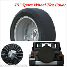 DIY trailer Spare tire tyre Wheel Cover Pure black Heavy Duty Vinyl Material 15'