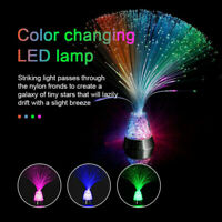 LED Fibre Optic Light Starry Lamp Fountain Color Changing Relaxing Night Decor