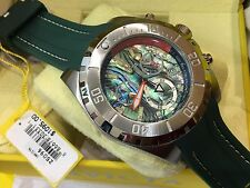 25096 Invicta Pro Diver LTD Men's 52mm Swiss Quartz Abalone Dial Strap Watch