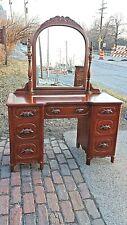 Davis cabinet co. Victorian style Walnut Lillian Russel dresser Vanity & Mirror
