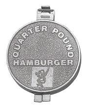 "HIC Burger Press & Patty Maker Aluminum Makes Quarter-Pound Patties 3.75"" Round"