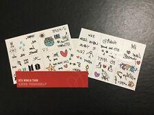 BTS Love Yourself World Tour Concert Tattoo Sticker Set Official #99581 RARE