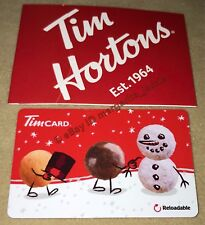 "TIM HORTONS USA CHRISTMAS 2017 GIFT CARD ""TIMBIT SNOWMAN"" NO VALUE FD59173 US"