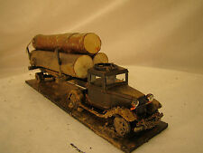 O Scale Logging Truck - custom weathered, hand crafted from historic pictures