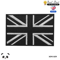 Union Jack Black Flag UK Embroidered Iron On Sew On Patch Badge For Clothes etc