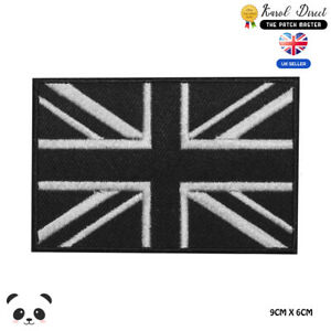 Union Jack Patch UK Flag Patch Velcro Embroider United Kingdom Badge on Clothes