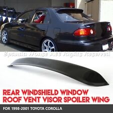 MADE FOR 98-01 TOYOTA COROLLA 4DR 1PC REAR WINDOW SPOILER SUN GUARD SMOKED VISOR
