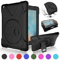 For Apple iPad Air 1st 2 Luxury Heavy Duty Rugged Hybrid Rubber Stand Case Cover