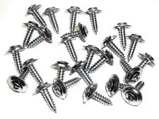 "For Toyota Chrome #10 x 3/4"" Phillips Loose Washer Trim Screws- Qty.25- #248"