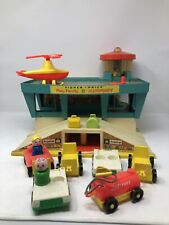 Vintage fisher price Airport Terminal-Garage 1972-Fisher Price Play Family