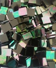 Mosaic Glass: Black Iridized, 5 oz Stained Glass pack (abt 100 Hand Cut Pieces)
