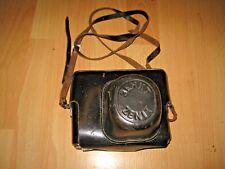 Vintage Zenit Black Leather Case with Leather Strap for Film Camera Zenit