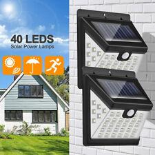 40 LED Waterproof PIR Motion Sensor Solar Lamp Outdoor Garden Wall Yard Light