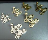 S/L Antique Brass/Silver Swing Bag Clasp Lock + rivets DIY Handbag Leather Craft
